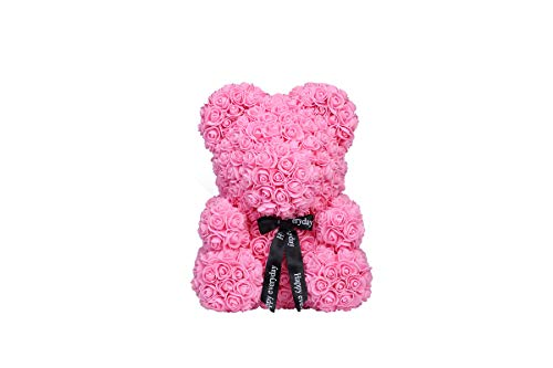 (Rose Bear Teddy Bear Cub Forever Artificial Rose Anniversary Christmas Valentines Gift 14