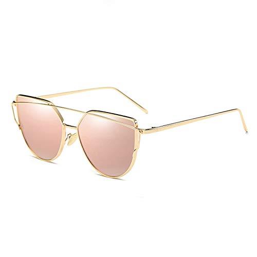 Fashion Cat Eye Sunglasses Women Mirror Sun Glasses Vintage Rose Gold Female Eyewear C11 Gold Pink (Cat C11)