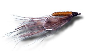 (Gold & Brown Shrimp Fly Fishing Fly - Size 6 - 6 Pack)