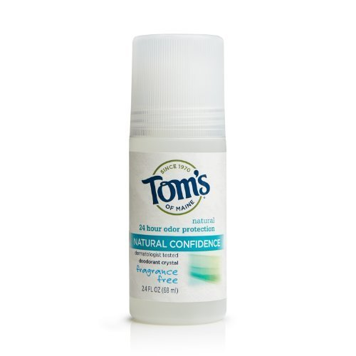 Tom's of Maine Fragrance-Free Natural Confidence Roll-On Deodorant, 2.40-Ounce Bottles (Pack of 6) by Tom's of - Shopping Maine Mall