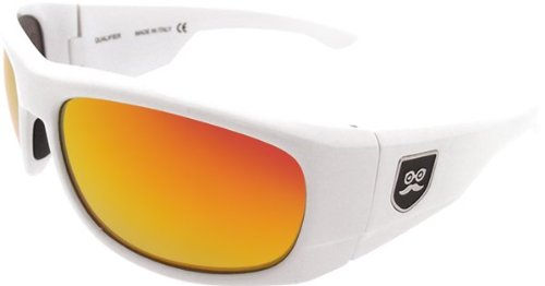Sikkshades Qualifier White/Red Sunglasses by Sikk Shades