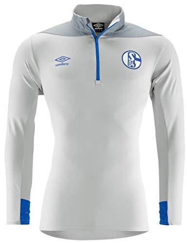 (Umbro 2018-2019 Schalke Half Zip Training Top (Grey))