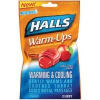 UPC 312546636651, Halls Warm-Ups Apple Cider Drops, 20 ct