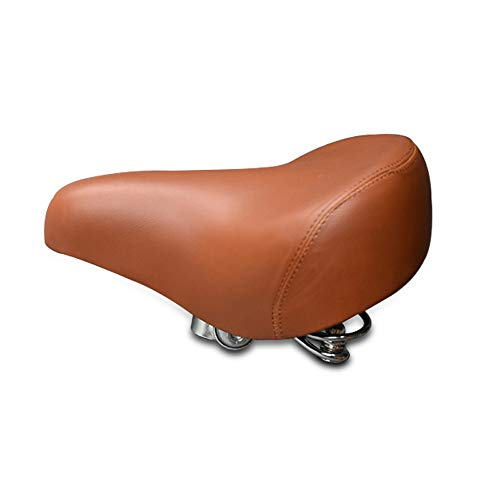 SENQI Retro Bicycle Bike Saddle Vintage Riveted Cycling Bike Saddle Comfortable Durable Seat Accessories