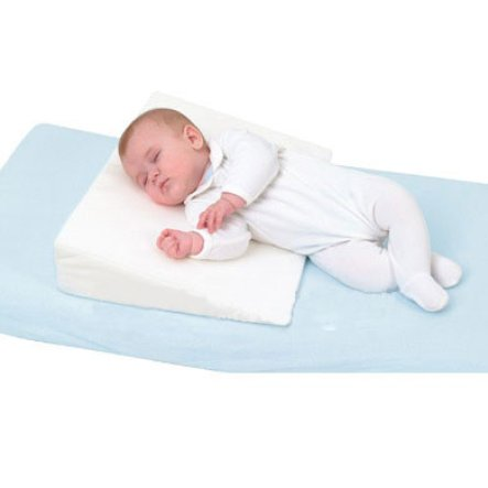 Comfy Baby Wedge Crib Pillow and sleep positioner (Blue)