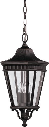 Feiss OL5411GBZ Cotswold Lane Outdoor Lighting Pendant Lantern, Bronze, 3-Light (10