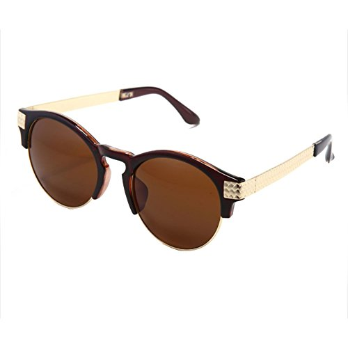 Sinkfish SG80010 Sunglasses for Women,Anti-UV & Fashion - UV400/Oldlace Frames/Maroon Lens