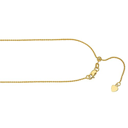 WHEAT CHAIN , 14KT GOLD WHEAT CHAIN / 22'' INCHES LONG by DiamondJewelryNY