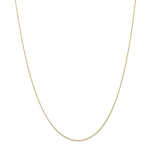 10k Gold Rope Chain Necklace with Spring Ring (0.4mm) - Yellow-Gold, 18 in ()