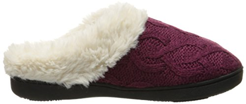 Bridget Rose Clog Slipper Cable Wild Knit Women's Isotoner Isotoner Women's 4qwx7XX