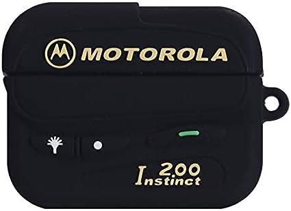 Amazon Com Airpods Pro Case Soft Silicone Black Motorola Beeper
