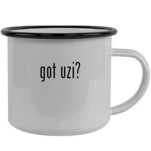(got uzi? - Stainless Steel 12oz Camping Mug, Black)