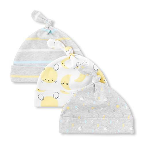 The Children's Place Baby Layette Hat and Mitten Bundle, Heather/T Lunar 0-6 Months - Layette Hat Cap