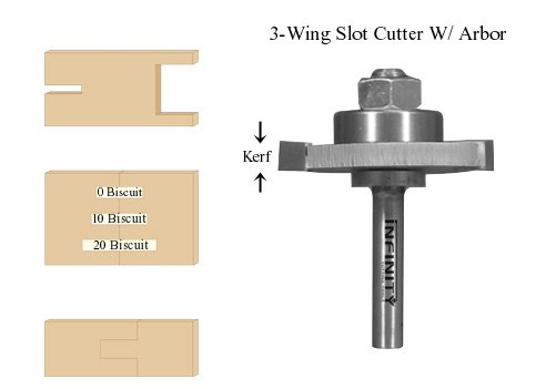 Slot Cutter with 1/4'' Arbor