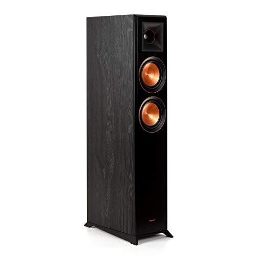 """Klipsch Reference Premiere Dual 5-1/4"""" 500-Watt Passive 2-Way Floor Speaker (Each) Ebony 1065801 RP5000F BLACK"""