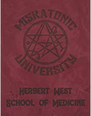 """Miskatonic University Herbert West School of Medicine: Lovecraft 2021 Large Daily Calendar With Goal Setting Section and Habit Tracking Pages, 8.5""""x11"""""""