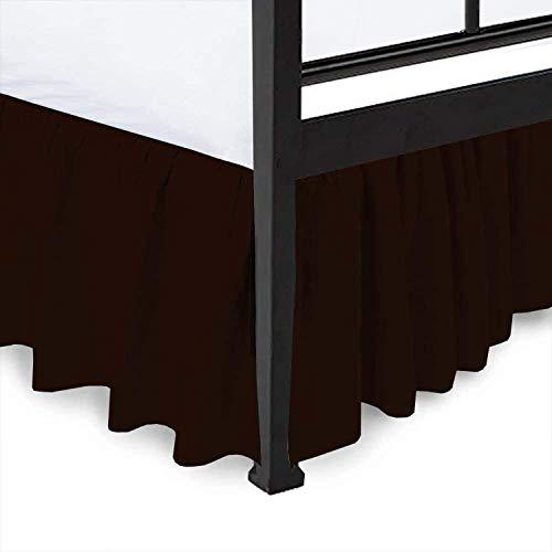 - Ruffled Bed Skirt Split Corners Ultrasoft Poly Cotton/Microfiber Upto 18