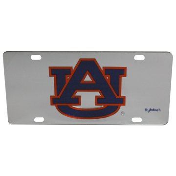 'AUBURN TIGERS' Auburn University Mirror Acrylic License Plate - 6