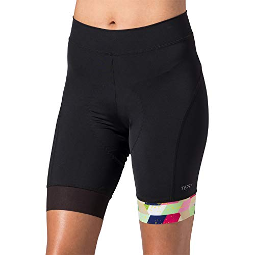 Terry Women's Peloton Cycling Short - Best-in-Class Value in a Woman's Bike Short - Sidesaddle/Multi - Medium ()