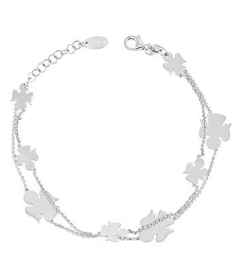 AMEN Bracelet Double fil avec anges