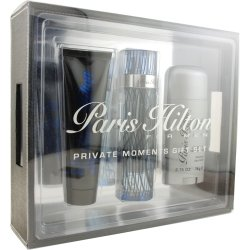 Paris Hilton 3pc Set by Paris Hilton for Men - 3 Pc Gift Set 3.4oz cologne spray, 3oz hair & body wash, 2.75oz deodarant stick
