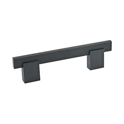 OKSLO Bridge style pull handle black 10-1/8 center, 11-3/8 length