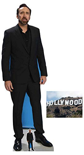 Nicolas Cage Lifesize and Mini Cardboard Cutout Fan Pack, 186cm x 66cm Includes 8x10 Star - Cage Cardboard Nicolas