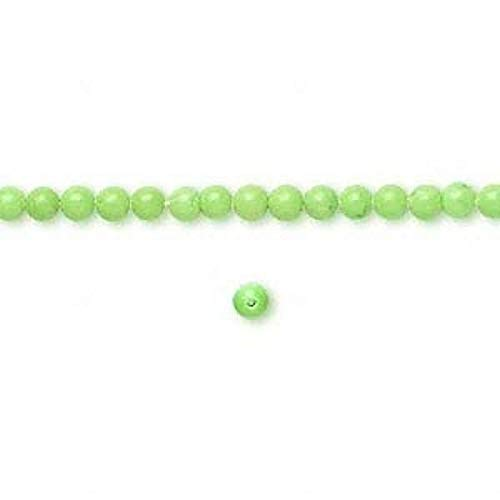 1 Strand Chalk Turquoise Lime Green 3Mm Round Beads ()