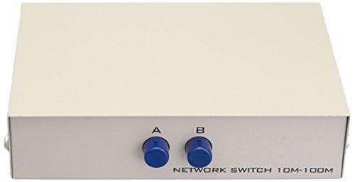 Cablelera 2-Way RJ45 Manual Data Switch - 2 Manual Data Way Switch