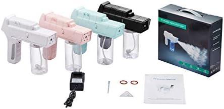 Nano Atomizer Handheld Steam Gun Portable Nebuliser Sprayer,Large Capacity for Travel or Home Daily Use (White)