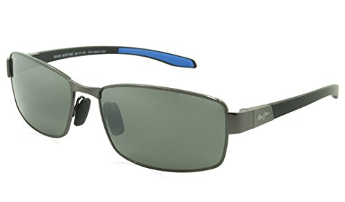 Maui Jim Kona Winds Polarized Sunglasses Gunmetal with Grey / Neutral Grey One - Sunglasses Kona