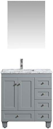 Eviva Happy 30 inch x 18 inch Gray Transitional Bathroom Vanity