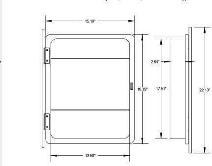 Nuvo Lighting 60 4083 Three Light Bento Vanity with Satin Glass, CUL Damp Location, Polished Chrome