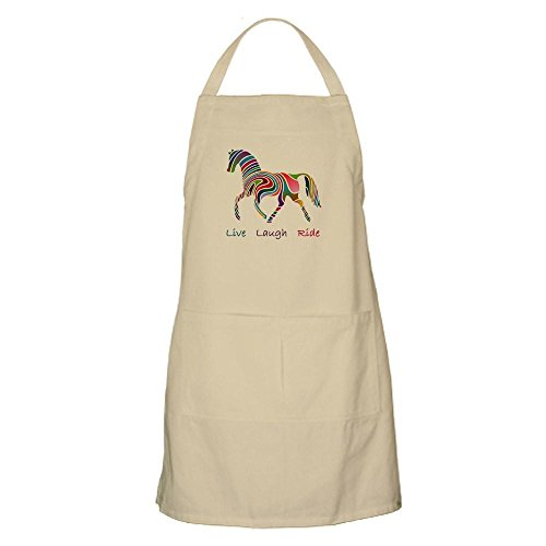 Horse Apron (CafePress Rainbow Horse Gift Kitchen Apron with Pockets, Grilling Apron, Baking Apron)