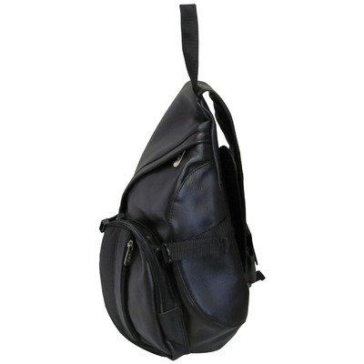 AmeriLeather APC Leather Cross Body Sling Bag (Black) - Leather Apc Case