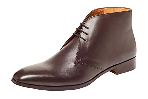 Carlos by Carlos Santana Mens Corazon Dark Brown Full Grain Calfskin Leather 8.5 D - Medium