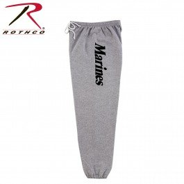 - Rothco at P/T Marines Sweatpants, Grey, Large