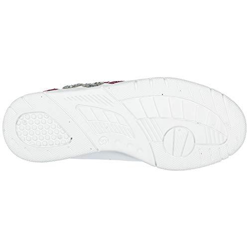 Heart Cuir Sneakers Ferragni Femme Chiara Chaussures en Blanc Baskets twYU00