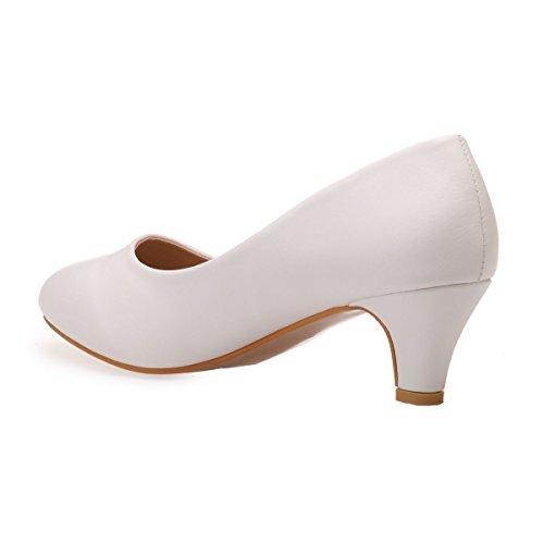 Mujer Zapatos La 47190 Sintético Blanco Modeuse Vestir Material De q00EZr