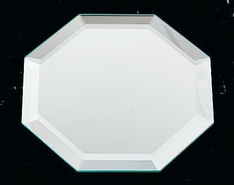 4 Beveled Glass Coasters (Mirrored Beveled Glass Octagon 4