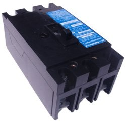 chh3225, Cutler Hammer, 3P, 225A, 240V, 100kA@240V, standard interrupting capacity, 40°C, feed-thru, long-time and instantaneous (LI) trip functions, suitable for use as main breaker, thermal magnetic molded case circuit breakers