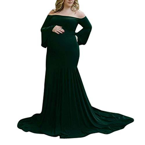 Infermieristici Pigiama Chic Elegante Ragazza Di Lungo Servizio Abito Senza Verde Spalline Fotografico Maternità Donna Premaman Da Abiti Xw0HUqH