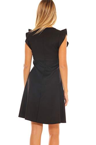 Para Idea Mujer Negro Vestido Collection T66qEO