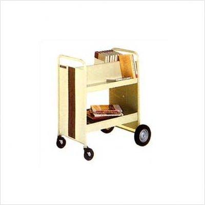 Three Shelf Utility Truck with 2 Slanted, 1 Flat and Big Wheels (Truck 3 Flat Shelf Book)