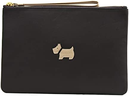 Radley Heritage Dog - Custodia in pelle con cerniera media, colore: Grigio scuro