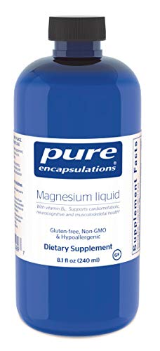Pure Encapsulations - Magnesium Liquid - Hypoallergenic Combination to Support Musculoskeletal, Cardiometabolic and Emotional Health* - 240 ml.