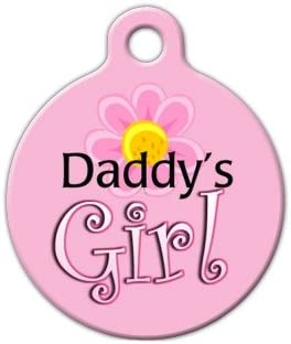 Small Dog Tag Art DTA-373S Daddys Girl Tag