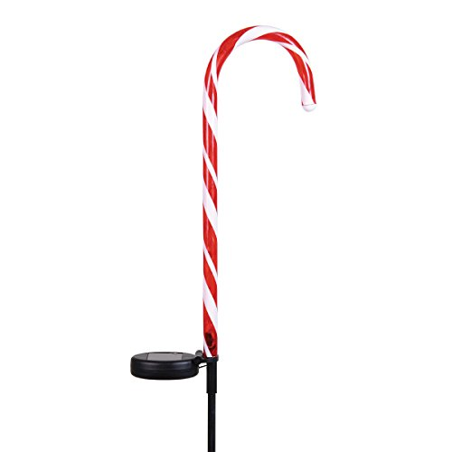 Exhart 30176 Solar Candy Cane Garden Stakes-Set of 2