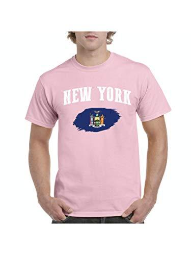 New York Men's Short Sleeve T-Shirt (XLLP) Light Pink]()