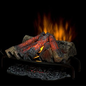 Faux Log (Dimplex DLG1058 Open Hearth Fireplace Insert with Faux Logs Bed, Black)